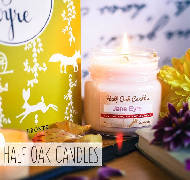 Jane Eyre Novels Candle Old Novel Book Scented Candle Soy Blend Book Gift Library Fragrance by HalfOakCandles on Etsy https://www.etsy.com/listing/270435361/jane-eyre-novels-candle-old-novel-book