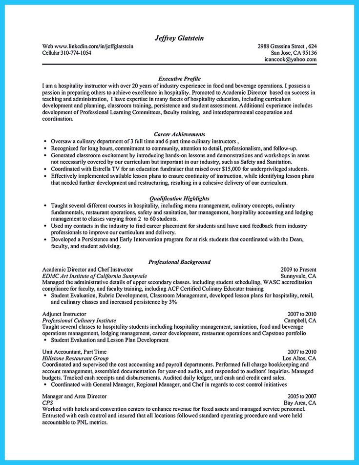 Cook Resumes Duties Samples For Resumes Chef Resume Sample Resume