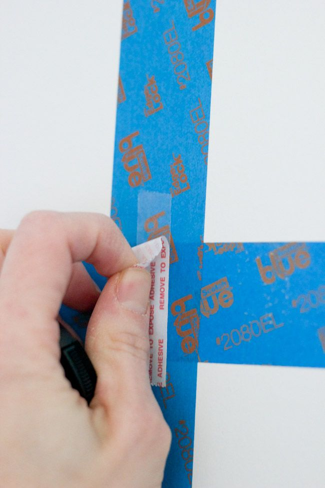 Double sided tape on top of painter's tape