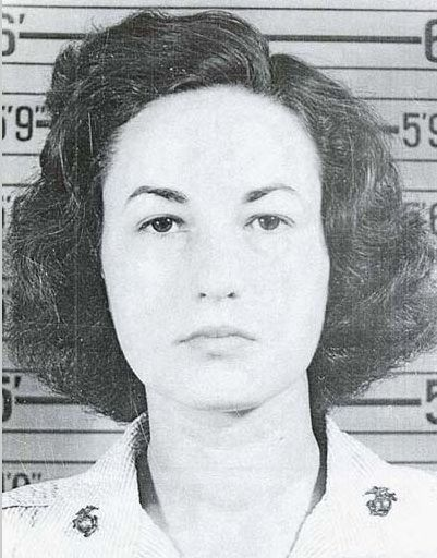 Bea Arthur mug shot for her truck driving in the Marines.