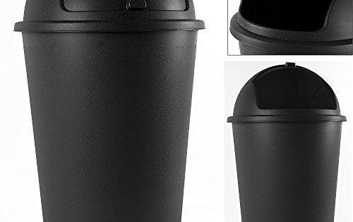 Poubelle 50 litres – couvercle basculant – 68cm X 40cm: Dimensions totales (H / Ø): 68cm / 40cm Volume contenance 50 litres Avec couvercle…