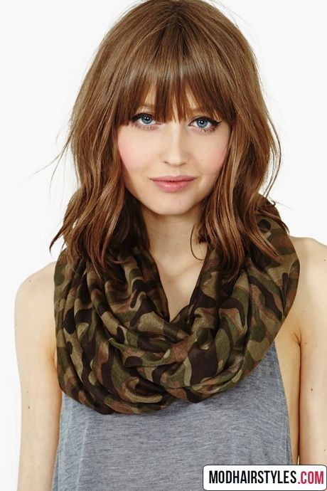cool Medium hairstyles with bangs 2016...