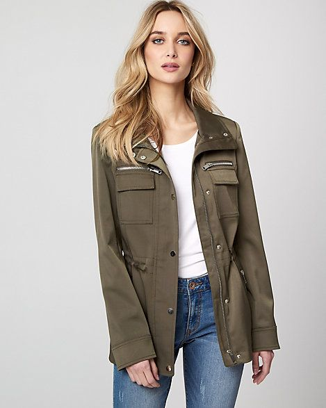 Utility Jacket - Turn to a lightweight, utility-inspired jacket for your new-season layered look. #affiliate, #utilityjacket, #outerwear, #officewear, #jacket, #ladieswear, #ladiesfashion