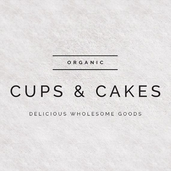 Premade Logo Design Modern Font Clean Simple Typography Food