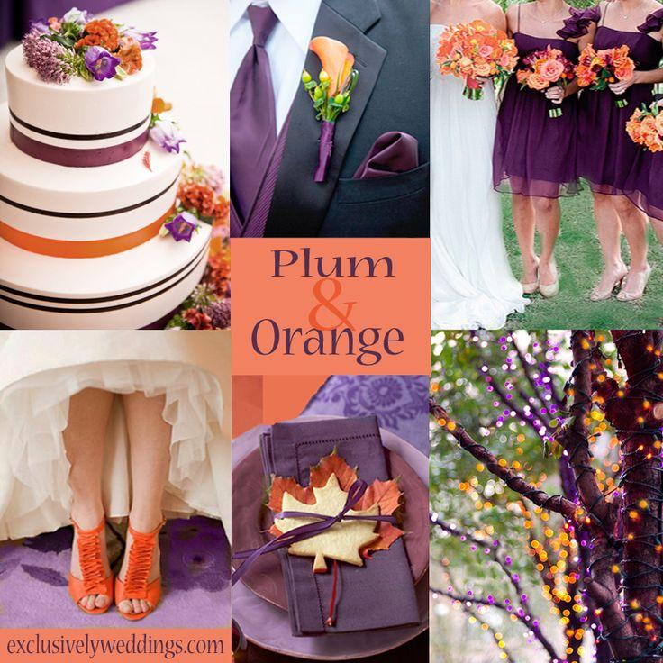 Plum and Orange Wedding   #exclusivelyweddings    #weddingcolors