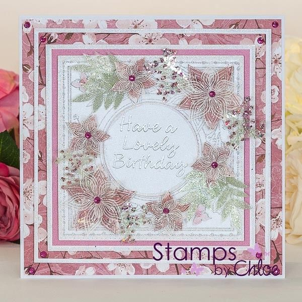 Stamps By Chloe - Layered Flower Frame - CraftStash