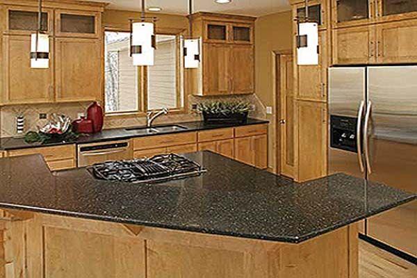 Round types of kitchen countertops