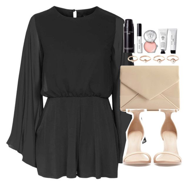 """Outfit for a party with a black playsuit"" by ferned on Polyvore featuring Topshop, Zara, Eddie Borgo and Bobbi Brown Cosmetics"