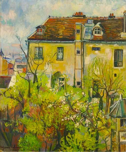 Suzanne Valadon Le Jardin de la rue Cortot 1928