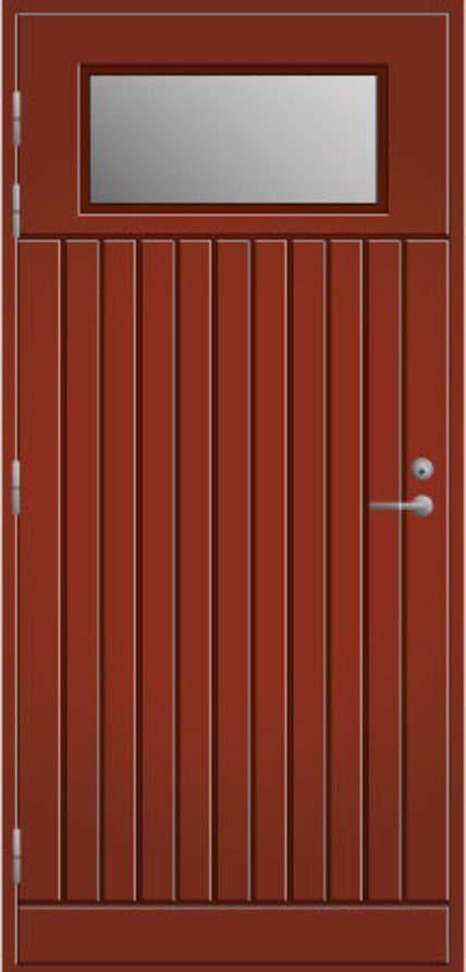 Ulko-ovi Pihla 210 tuvanpunainen