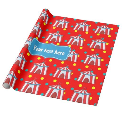 Kids Circus Party Personalized Wrapping Paper