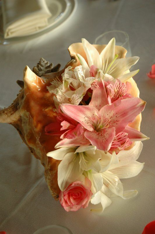 another conch shell centerpiece