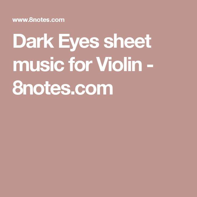 Dark Eyes sheet music for Violin - 8notes.com