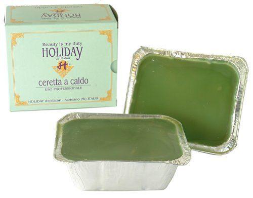 WARMWACHS HOLIDAY CLASSIC GREEN - 1 kg - Haarentfernung, Waxing ohne Vliesstreifen