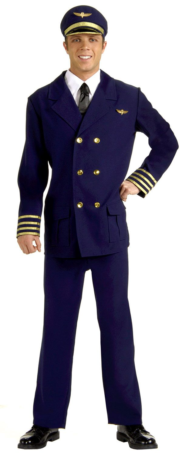 Adult Airline Pilot Costumes - Halloween Costumes