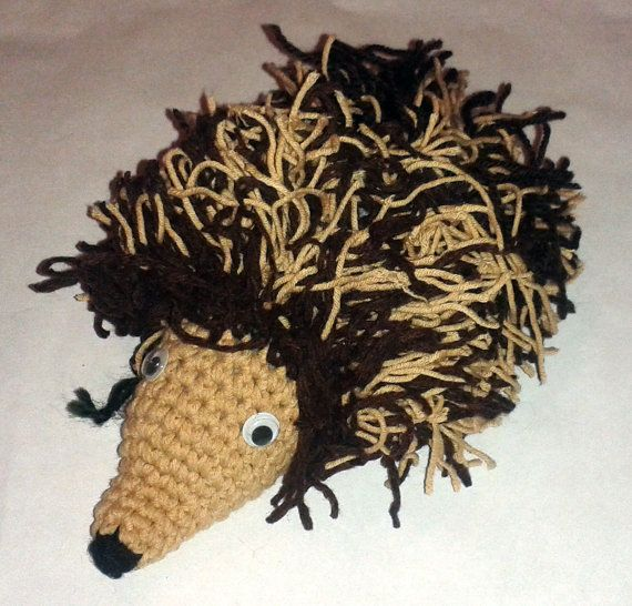 Crocheted Hedgehog by AdeHandmade on Etsy