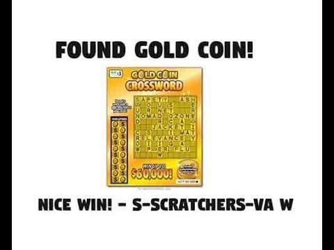 NICE WIN - Found GOLD COIN! - VA Lottery $3 Gold Coin Crossword -  S Scratchers VA W - http://LIFEWAYSVILLAGE.COM/lottery-lotto/nice-win-found-gold-coin-va-lottery-3-gold-coin-crossword-s-scratchers-va-w/