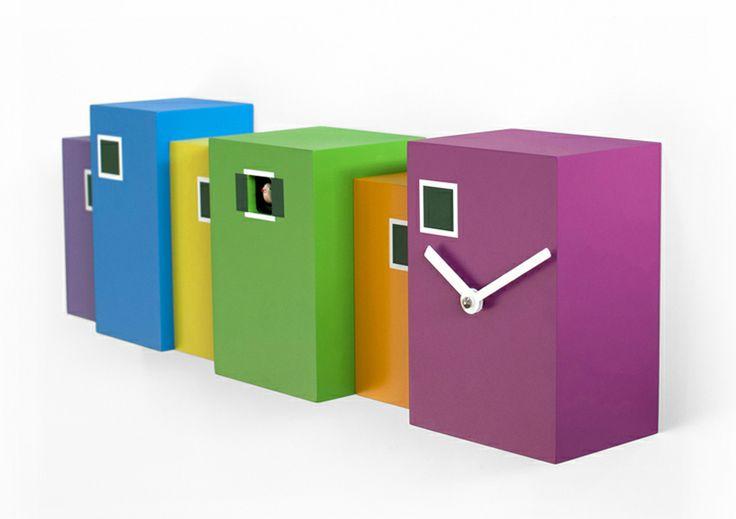 Burano, lacquered #wood #clock #cuckoo_clock, by Eloisa Libera (www.eloisalibera.com)