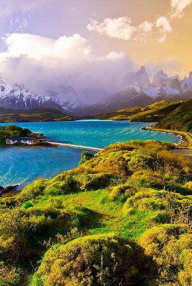 Lake Pehoé, Chile: