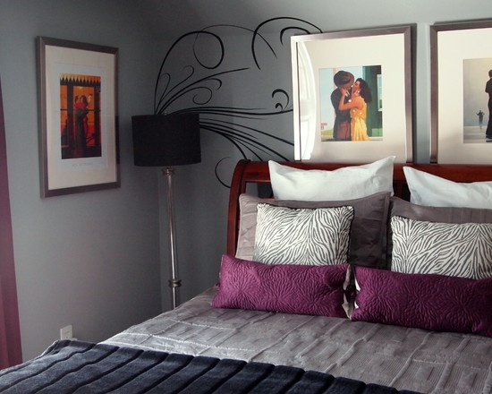 bedroom purple grey design pictures remodel decor and ideas