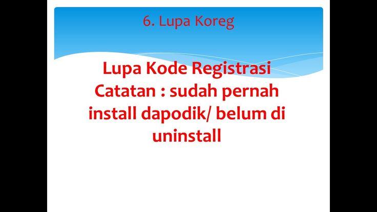 6. Lupa Kode Registrasi