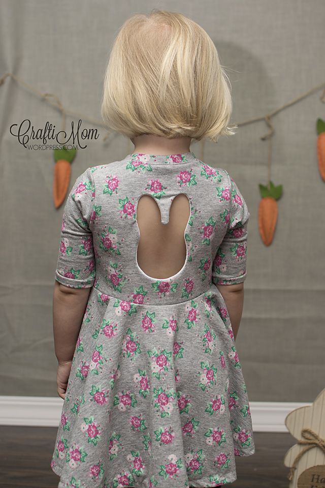 Hi it's CraftiMom again and today I am showing you a fun way to add to your little girl's Easter dress this year. I will say, that I love the frilly, over the top girly dresses for holidays, but I also know that kids love to play and I want them to be comfortable too. So I decided to make a knit dress to change