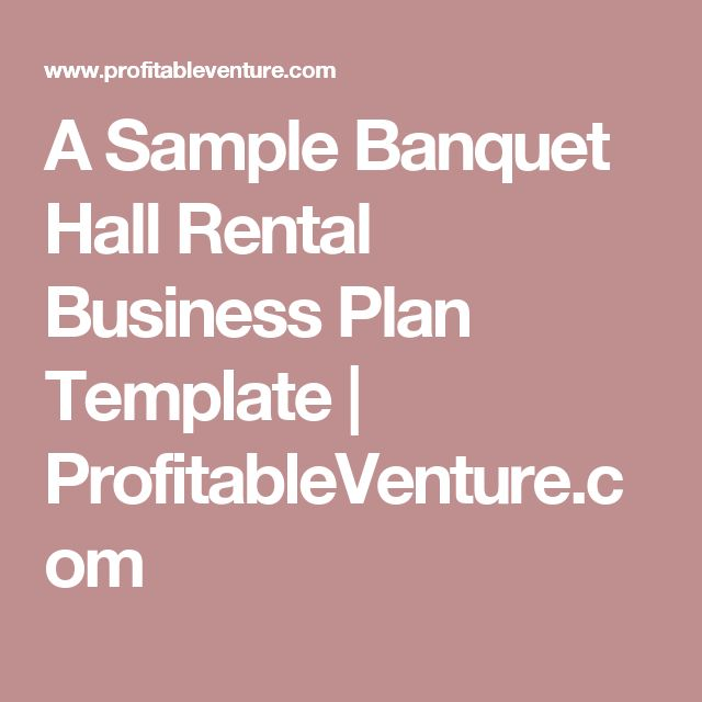 Banquet hall and event center owners boost profits with Wise Business Plans