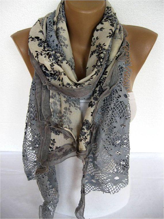 Trend Scarf Fashion Scarf  ShawlsScarvesGift by SmyrnaShop on Etsy, $23.00