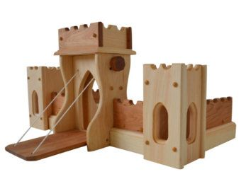 Ready to ship Waldorf wooden castle. 12 items. by TaleWorld