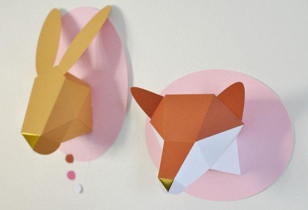 Chloe Fleury geometric fox and bunny