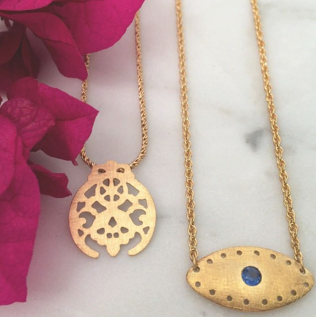 Our Good Fortune & Oasis Necklaces  #templeofthesunjewellery  #golden #jewellery #byronbay       #gold #silver