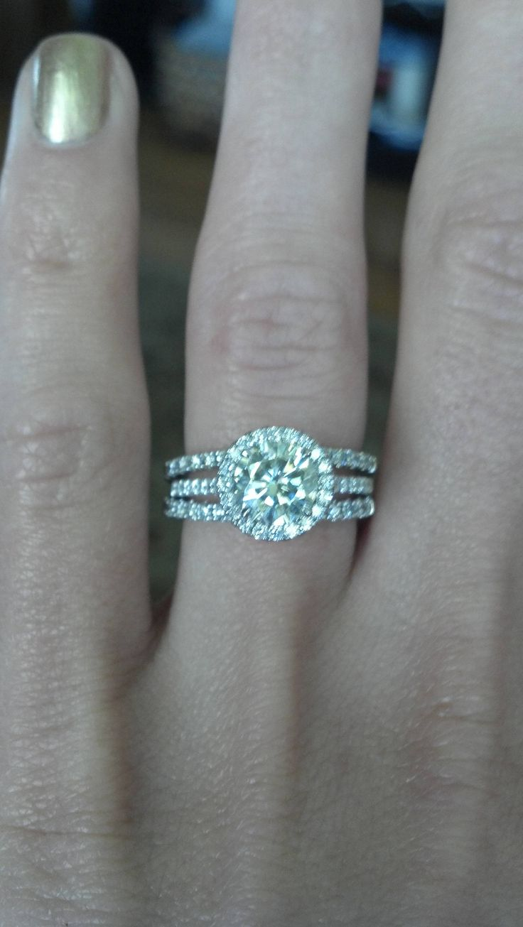 125ct Moissanite Halo Ring! One Of The Only Circle Diamonds Gorgeous  Enough For · Radiant Cut Engagement Ringsmy Engagement Ringwedding