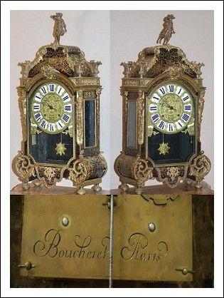 Orologio Luigi XIV Boulle firmato Boucheret - Paris
