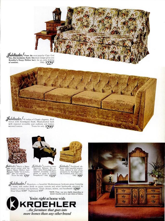 17 best images about 1968 graduation year on pinterest for Kroehler furniture slipcovers