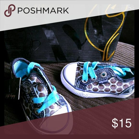 New in box baby phat shoes toddler 5 girls New in box Baby phat shoes Toddler 5 Blue and aqua with polka dots  Adorable Baby Phat Shoes Sneakers
