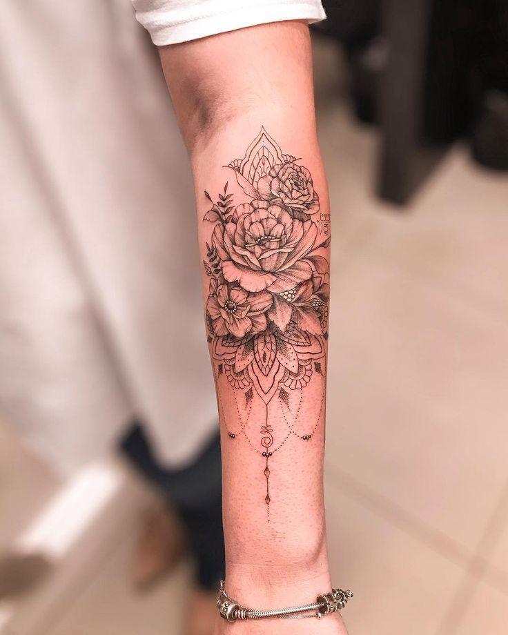 Verpassen Sie nicht 32 florale Tattoos Inspirationen #