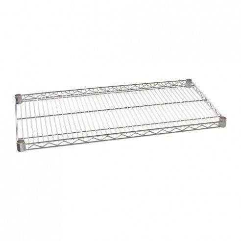 """18"""" x 36"""" Chrome IP Steel Wire Shelf"""