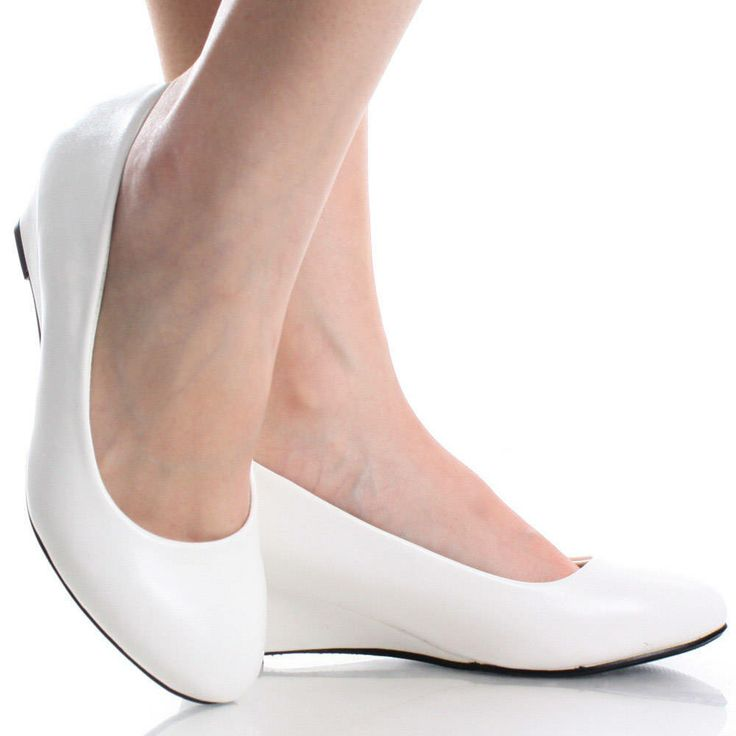 White Closed Toe Heels