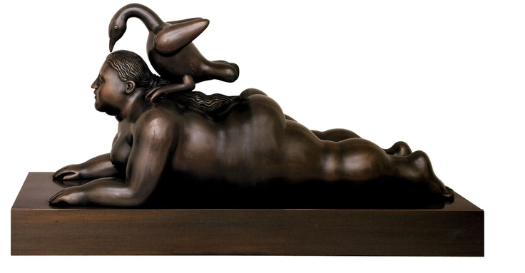Fernando Botero_Leda and the swan_la cometa