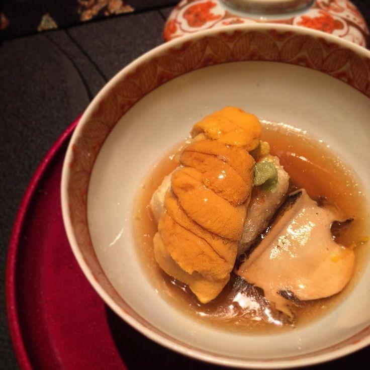 Goemon Tofu Sea Urchin and Abalone. Very very nice tofu :) matched well with the uni by mademoiselleali