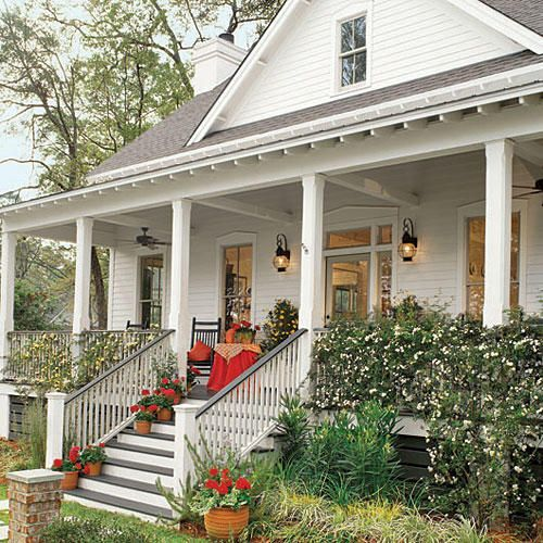 551 best southern living house plans images on pinterest for Southern homes with porches