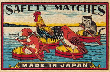 Match box Animals Around 1920s