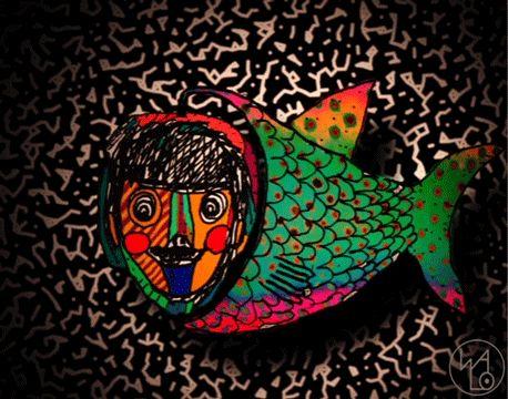 Un pez contento