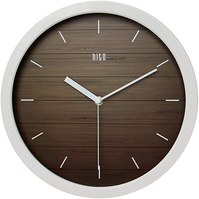 Hito Silent Wall Clock Non Ticking 12 Inch Excellent Accurate Sweep Movement Modern Decorative For Kitchen Living Room Bathroom Bedro Wall Clock Clock Wall