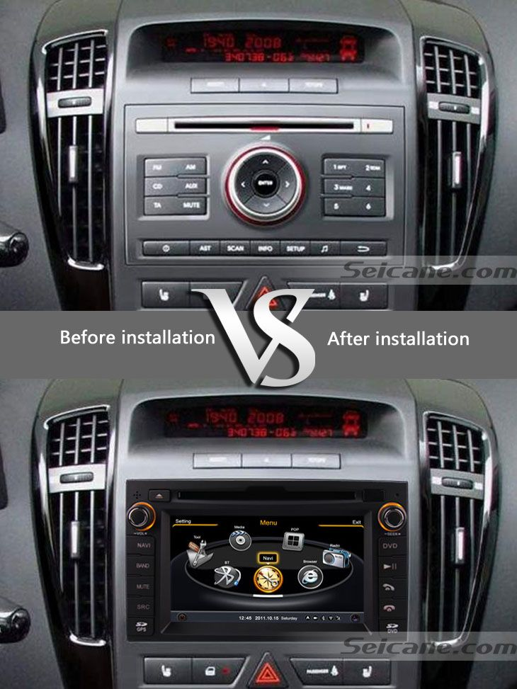 double din dvd de voiture lecteur autonome st r o pour 2009 2010 kia ceed avec navigation ready. Black Bedroom Furniture Sets. Home Design Ideas