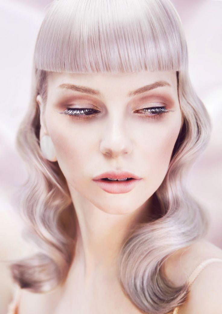 Rokk Ebony - Unembellishment #rokkebony #sanjascher #yoshisu #hairdye #haircolor #pastelhair #coloring #тонирование #блонд #blonde #окрашивание Hairdresser / Colourist / Stylist: Sanja Scher Make-Up Artist & Photographer: Yoshi Su