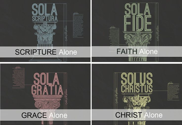Sola Scriptura, Sola Fide, Sola Gratia, Solus Christus