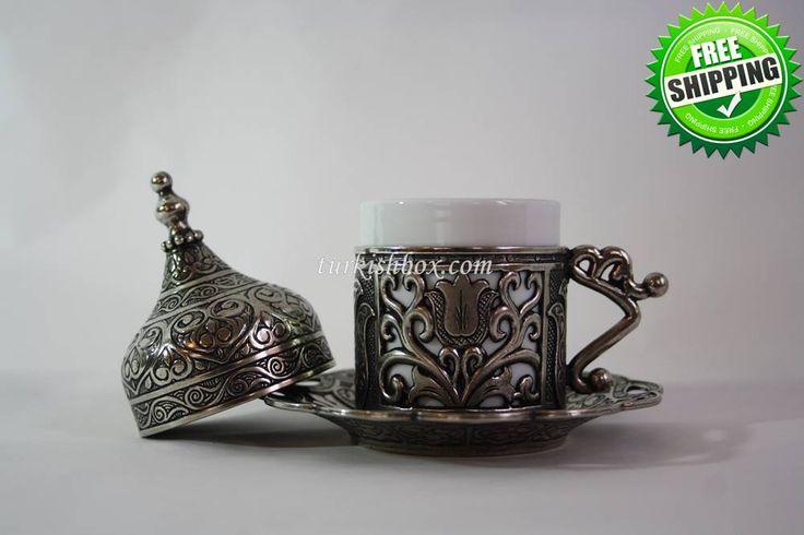 Turkish Coffee Cup   Tulip - Black - http://turkishbox.com/product/turkish-coffee-cup-tulip-black/  #turkishtowels #peshtemals #turkishproducts