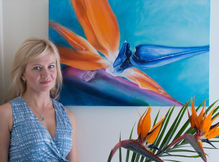 """Bird of Paradise Flower"" - oil painting"