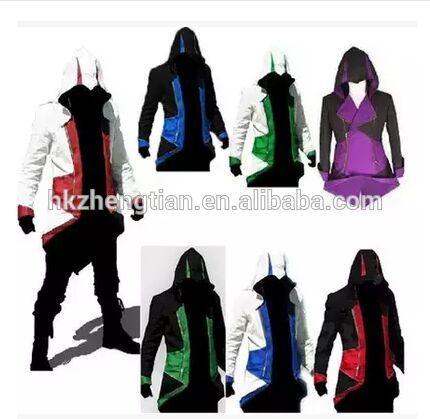 Ecoparty Halloween Assassins Creed 3 III Conner Kenway Hoodie Coat Jacket Cosplay Costume
